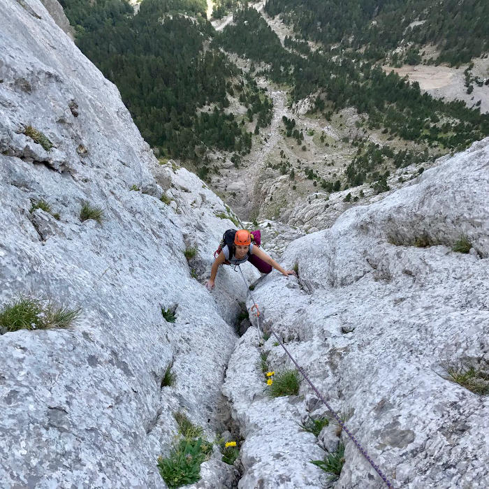 Rock climbing Pedraforca